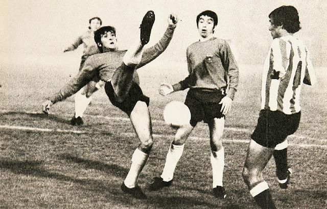 Chile y Paraguay en partido amistoso, 14 de julio de 1971