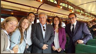 Josep Rull participó en un acto en Sant Cugat junto a la alcaldesa y el presidente de Ferrocarrils (.)