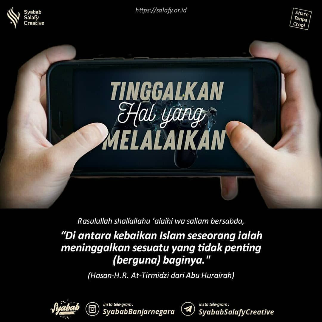 gambar kutipan islami tentang game