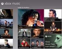 App Musica su Windows 8 e via web