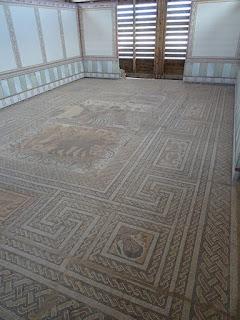 Oecus. Villa romana de Santa Cruz