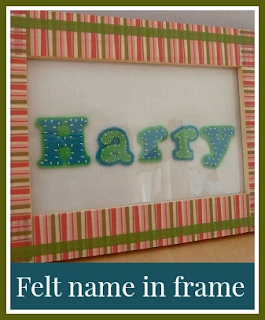 Felt name in frame - Harry