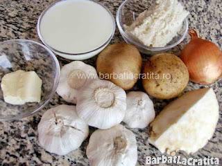 Supa de usturoi - ingredientele necesare pentru a prepara reteta