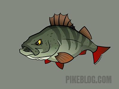 FISH REAPER t-shirt predator zander perch bass pike hunter fly fishing