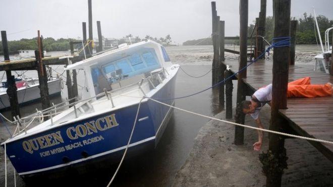 Por que a água do mar se retrai antes da chegada de um furacão?