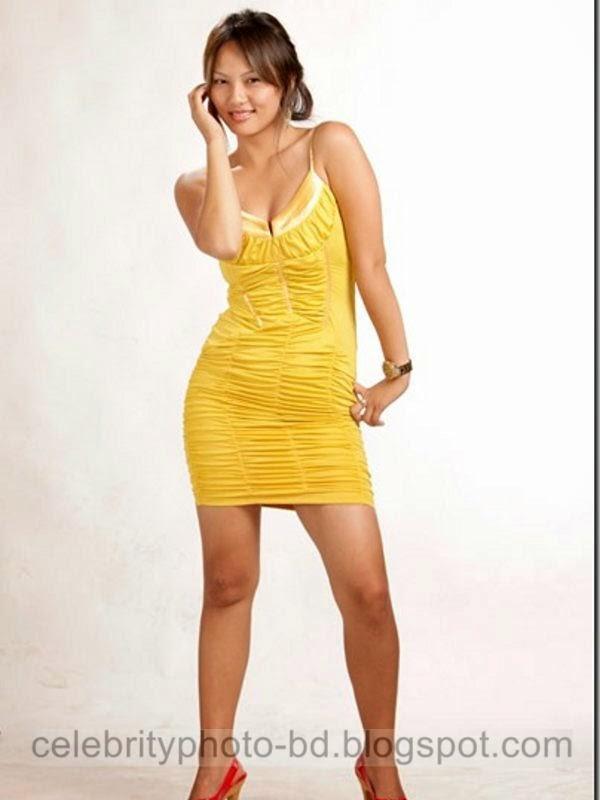 Miss Nepali Zenisha Moktan Latest Hot Photos 2014 In Tight Short Skirt
