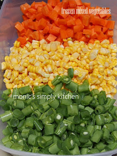 homemade sayuran beku campur