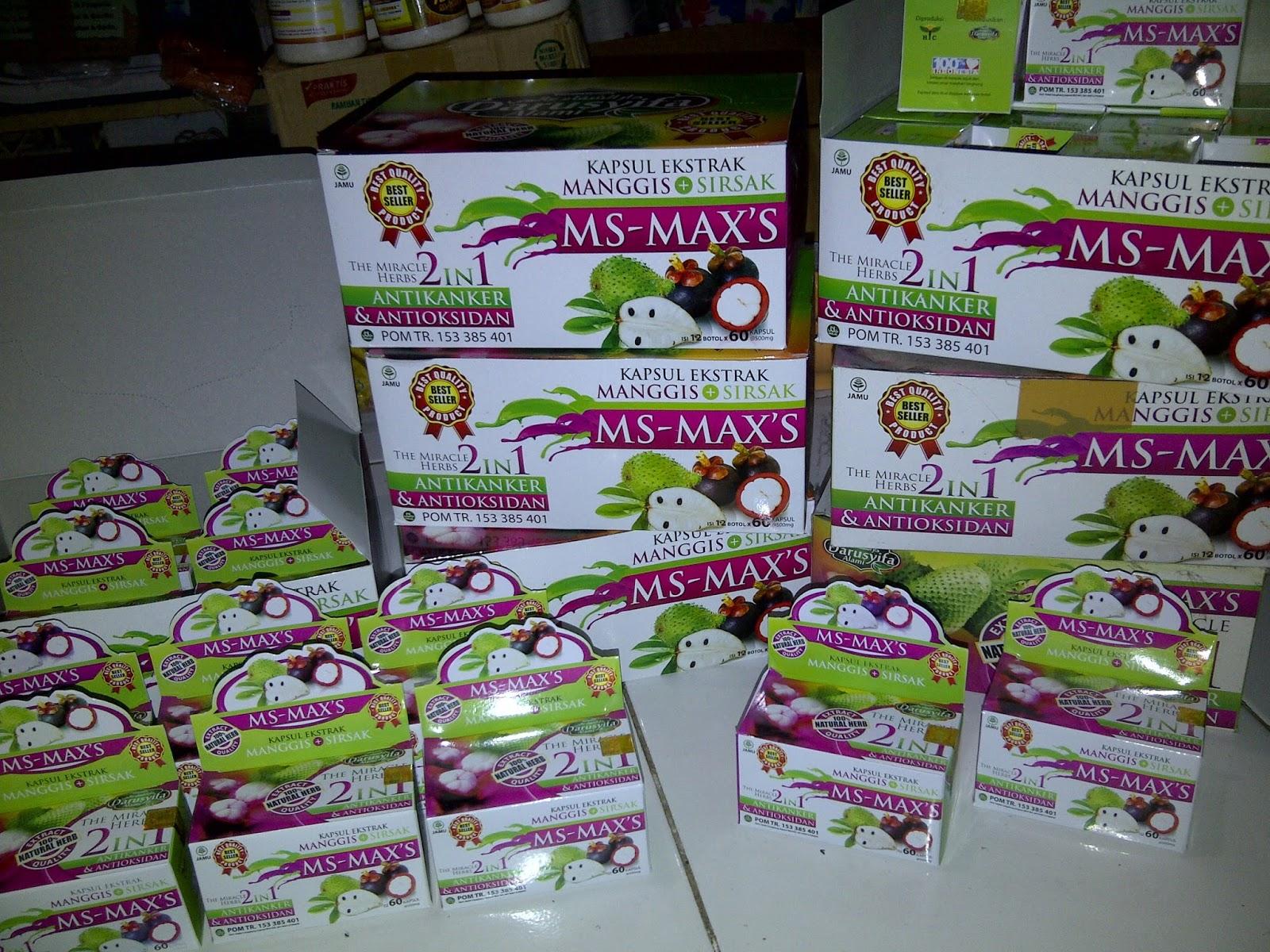 MS-MAX`S Kapsul Ekstrak Manggis dan Sirsak