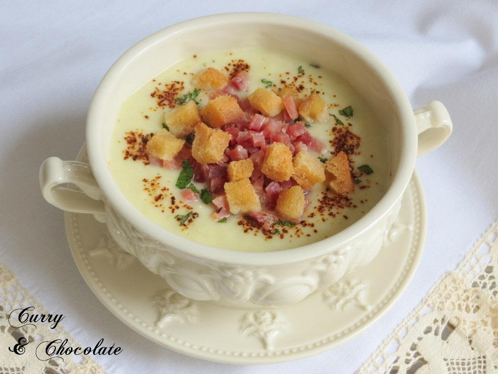 Crema de puerros o Vichyssoise - Cream of leeks
