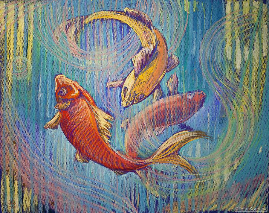 Картинки три рыбки