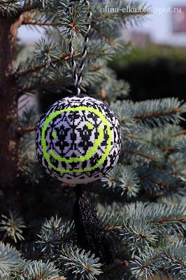 Cross stitch christmas ornament Sherlock