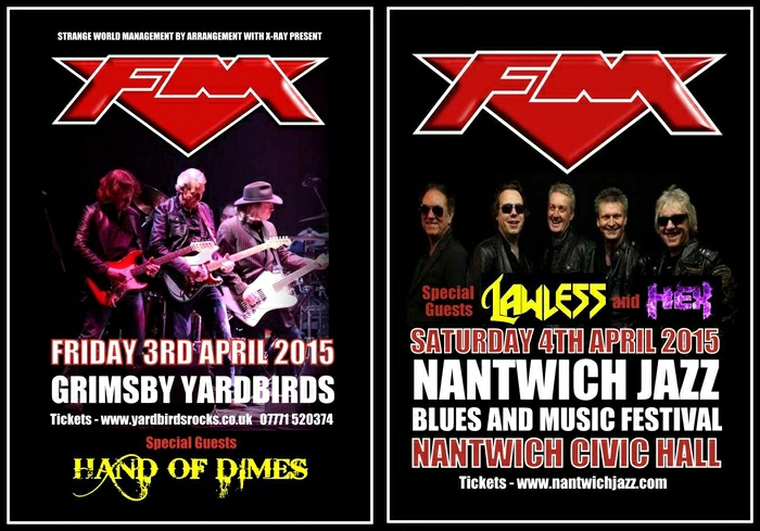 FM at Grimsby Yardbirds & Nantwich Civic Hall April 2015 posters