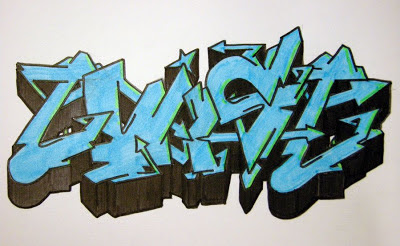 graffiti names blue