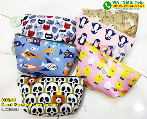 Pouch Kosmetik Cute Animals