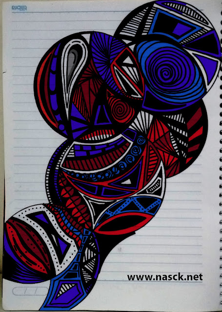 Arte inspirada no Zentangle - Cores