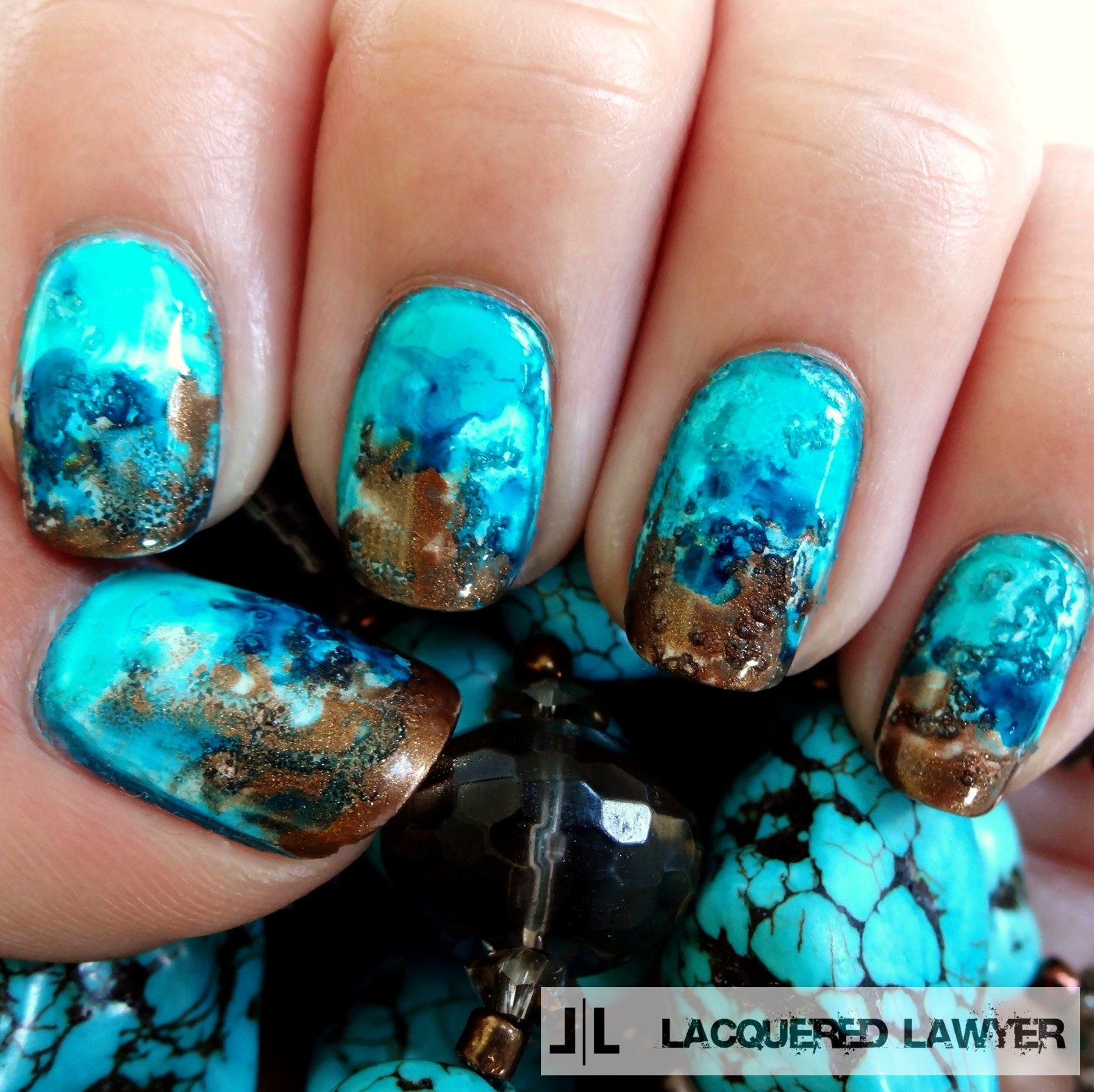 Lacquered Lawyer | Nail Art Blog: Turquoise Talons