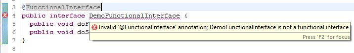 Lỗi biên dịch Functional Interface
