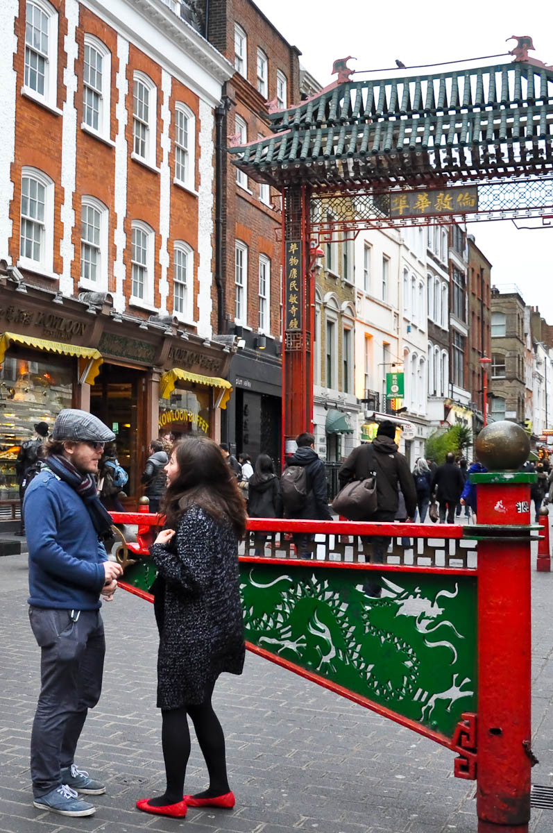 The entrance to Chinatown, Chinatown, London, England