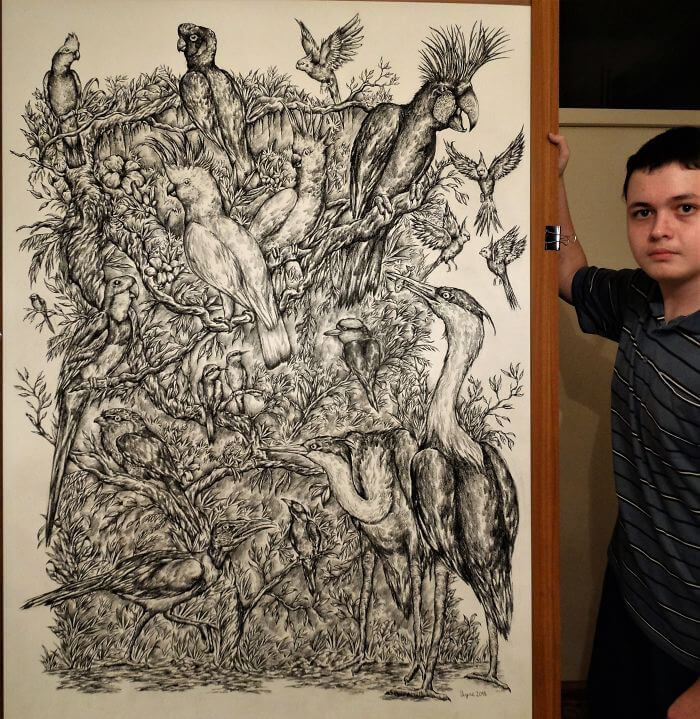 16-Year-Old Artist Has Been Drawing Since He Was Two And Here Are His Amazing Illustrations
