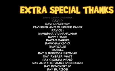 Yooka-Laylee Kickstarter backer credits extra special thanks RawkHawk2010 R section