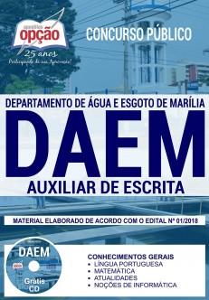 Apostila concurso DAEM de Marília 2018 Auxiliar de Escrita