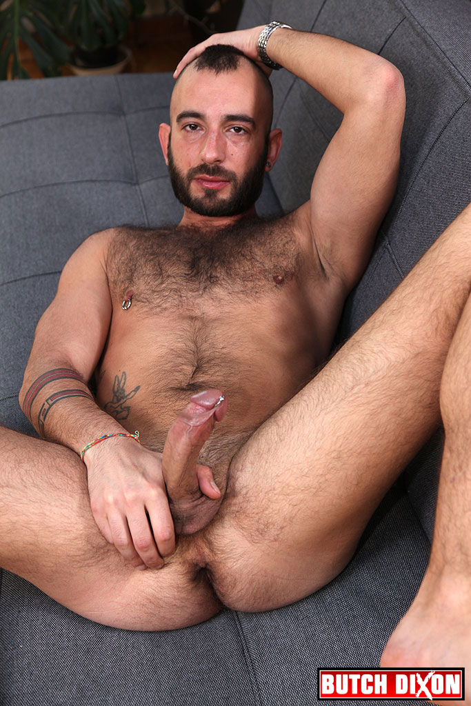 Rough Hairy Guy Krisztian Loft Jerks Off At Butch Dixon -3044