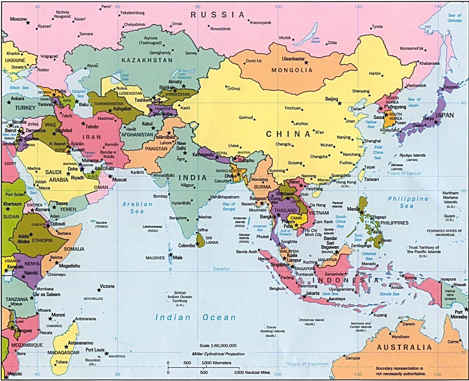 Map Of China And Surrounding Areas.China Map Cities Tourist People S Republic Of China Maps And Flag