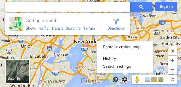 New Menu for Desktop Google Maps