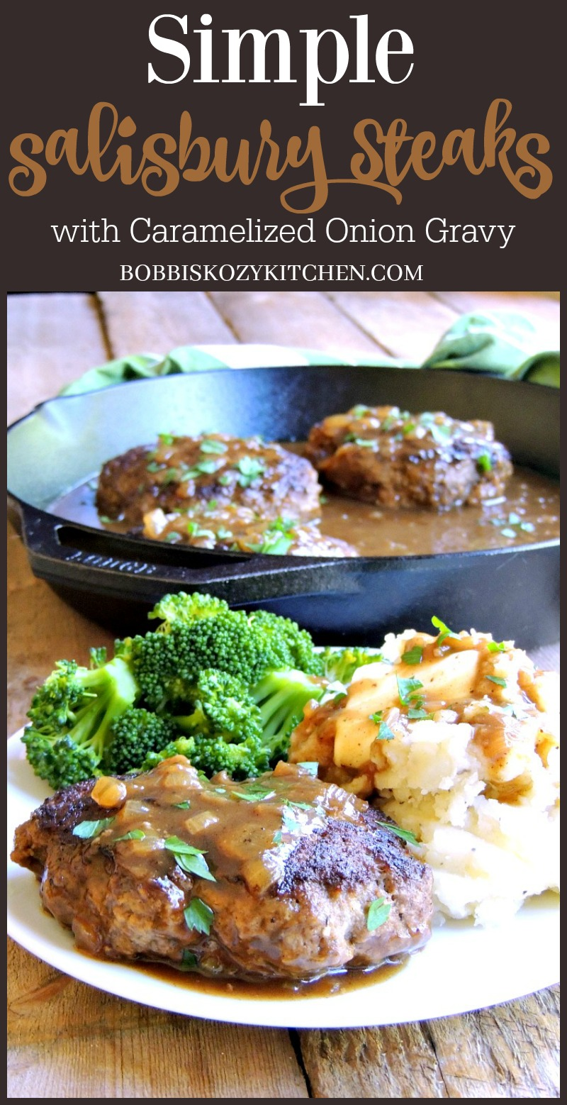 This Simple Salisbury Steak recipe turns that classic TV dinner into something you can be proud to serve your family from www.bobbiskozykitchen.com