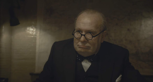 "Gary Oldman is Winston Churchill in Joe Wright's ""Darkest Hour"""
