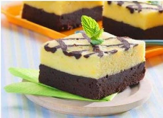 cara membuat kue brownies coklat keju panggang