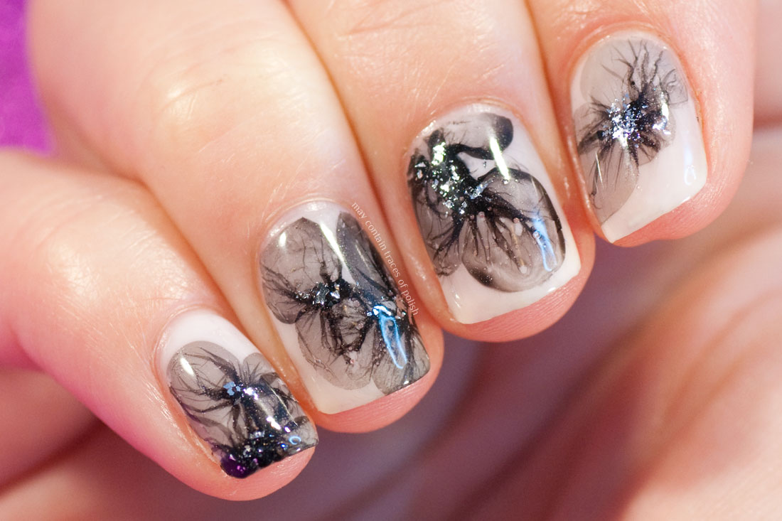 31 Day Challenge: Day 20, Veil Technique Water Marble Nails