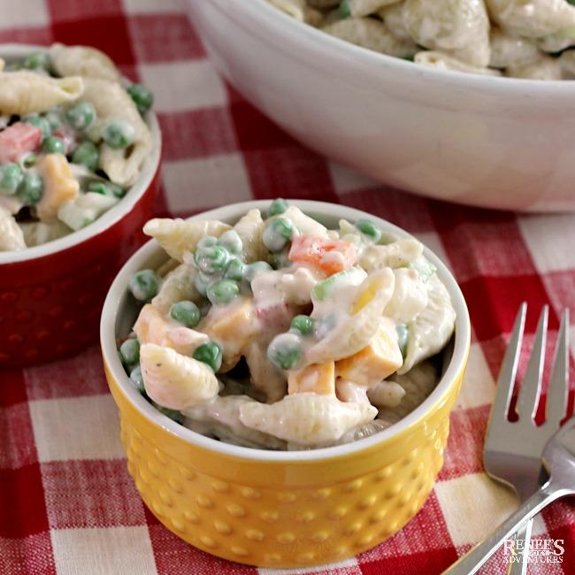 Creamy Tuna Pasta Salad in bowls