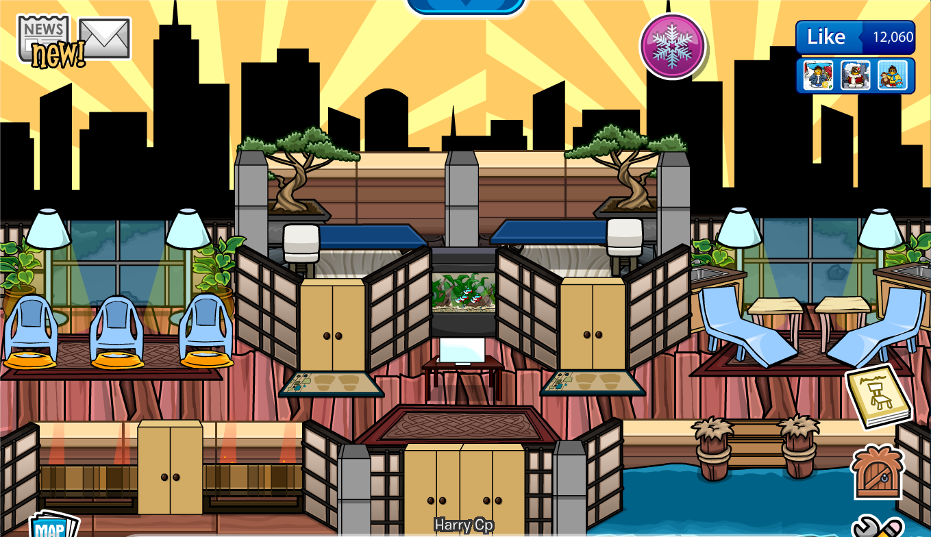 Club Penguin Igloo Ideas: Spa igloo | Harry Cp