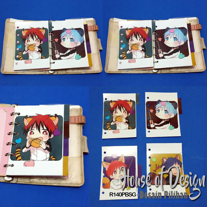 PEMBATAS BINDER SAMPING 6 RING UKURAN MINI KUROKO NO BASUKE CUSTOM MURAH