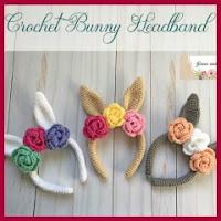 Diademas conejito crochet