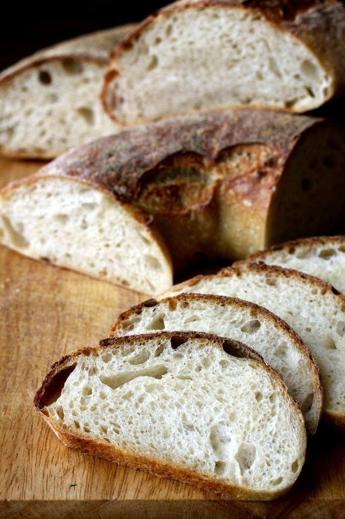 The Auvergne Crown is a classic French shape. You can find these couronnes in boulangeries throughout most of France. The loaves are deeply browned and crusty, and the crumb is exceptionally flavorful with lots of uneven holes.