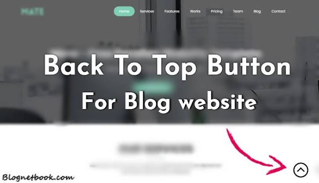 Stylish Back To Top Button Ya Scroll To Top Button Blog Ke Liye