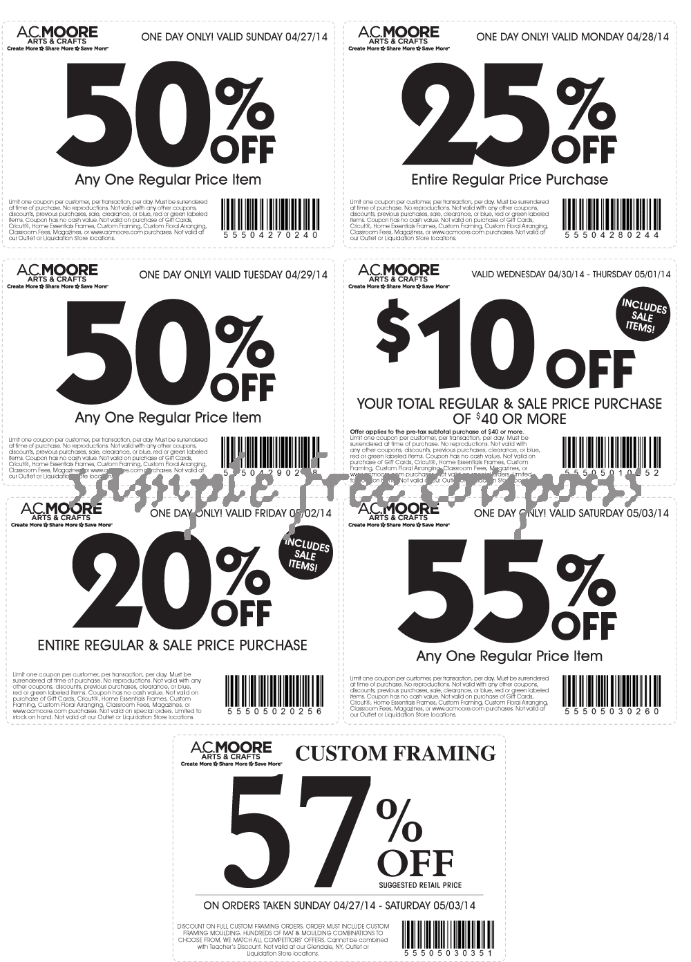AC Moore Coupons July 2014