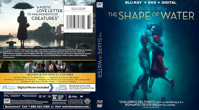 The Shape Of Water Bluray Cover