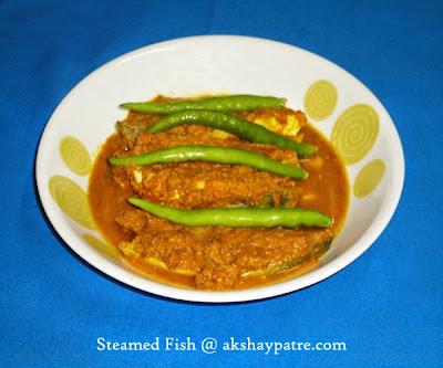 cooked pomfret slices-preparing steamed pomfret recipe