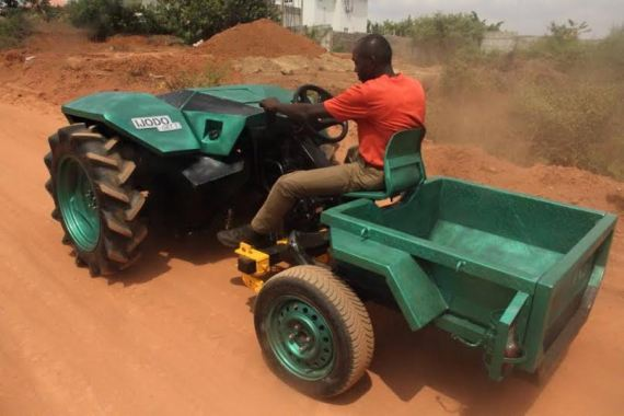 SEE: Nigerian engineer designed and built a 100% Nigerian tractor