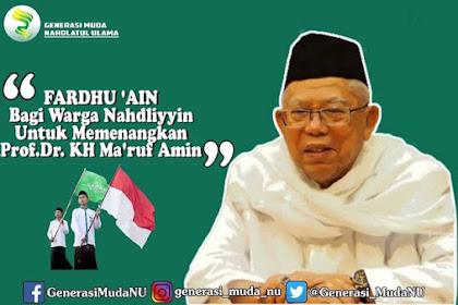 Generasi Muda NU Fatwakan Wajib 'Ain Menangkan Ma'ruf Amin, KH Luthfi Bashori: Menyesatkan!