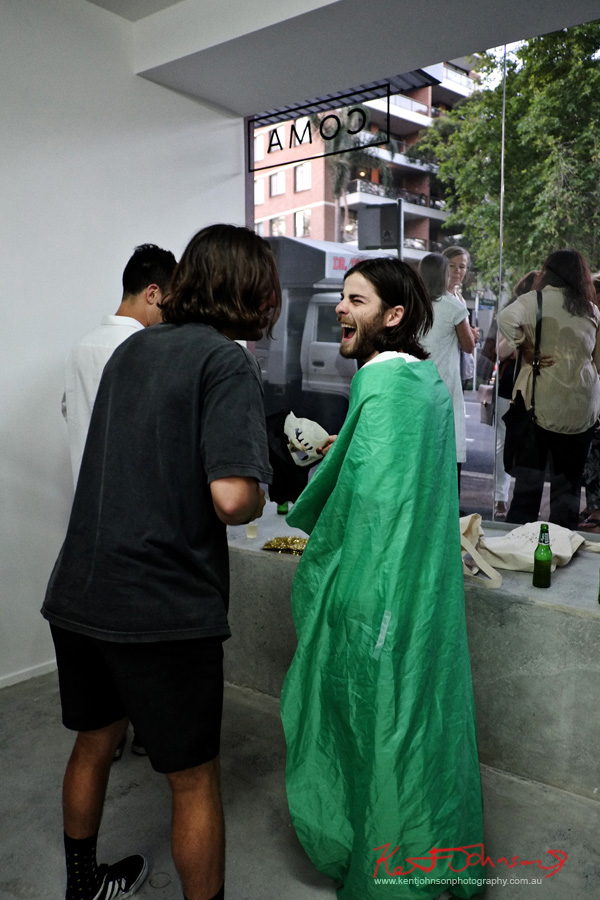 Just for a laugh, Halloween capers! COMA Gallery & Art Opening - Photographed by Kent Johnson for Street Fashion Sydney.