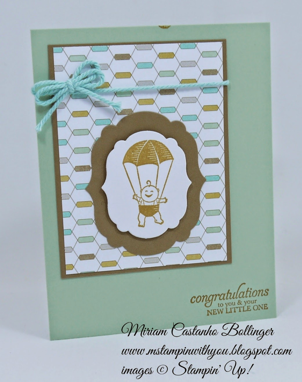 Miriam Castanho Bollinger, #mstampinwithyou, stampin up, demonstrator, cc, lullaby dsp, big shot, labels collection, baby card, sweetest gift, su
