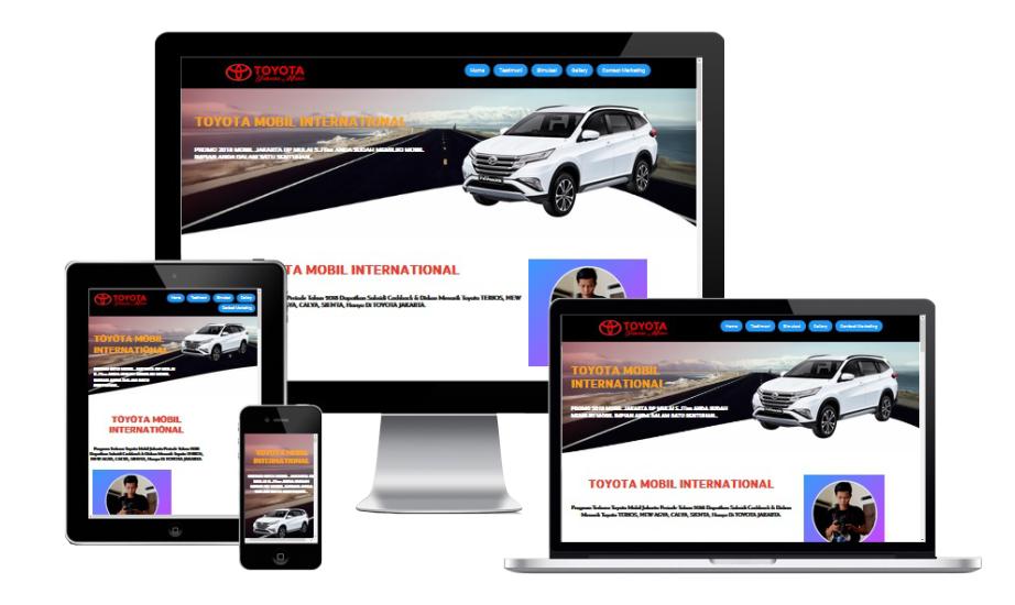 Toyota Blogspot Landing Page Builder