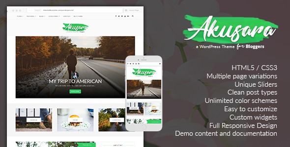 Akusara Multipurpose Responsive Wordpress Themes
