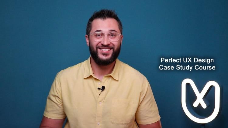 Perfect UX design case study Udemy course