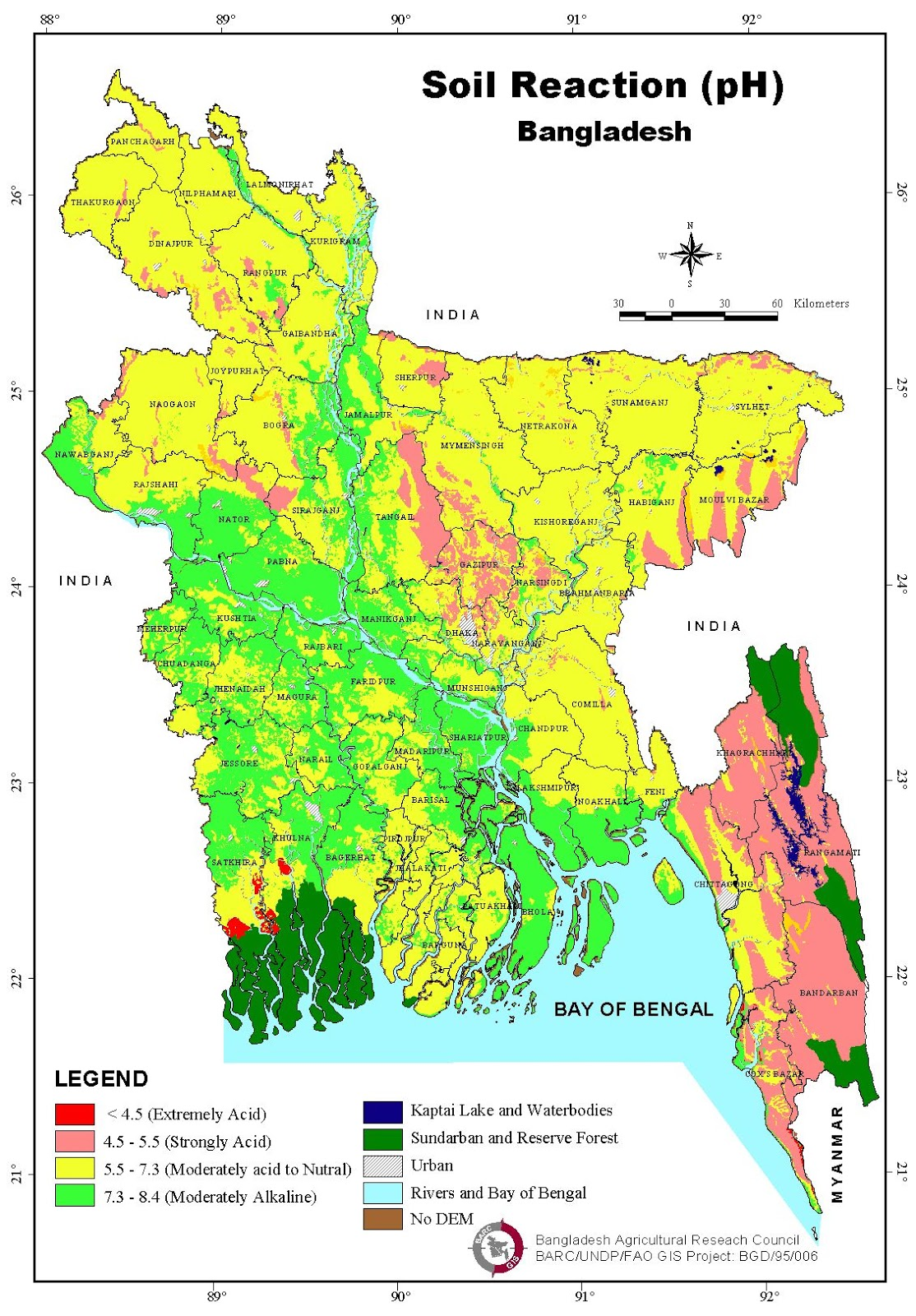Soil pH Map Bangladesh