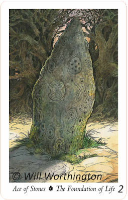 The Wildwood Tarot, Ace of Stones